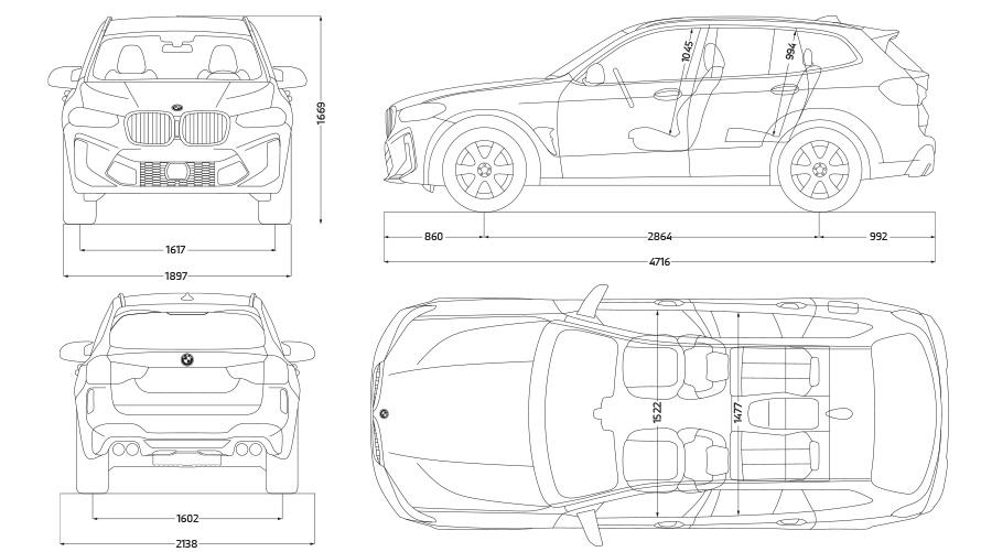 BMW X3 M Competition F97 LCI Facelift 2021 technische Daten