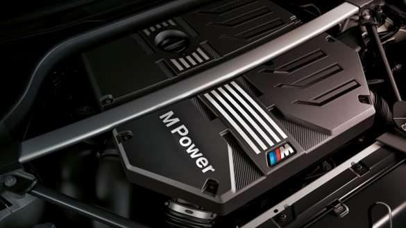 BMW X3 M Competition F97 LCI Facelift 2021 BMW M TwinPower Turbo Reihen-6-Zylinder Benzinmotor Nahaufnahme