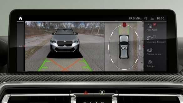 BMW X3 M Automobile F97 G01 LCI Facelift 2021 Parking Assistant Plus Control Display