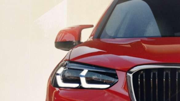 BMW X4 M F98 LCI Facelift 2021 Toronto Rot metallic M Außenspiegel